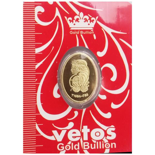 شمش طلا 18 عیار مدل  ملکه 2 کد NE