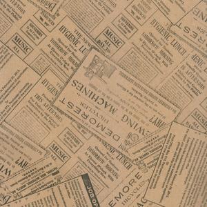 کاغذ کادو طرح روزنامه کد 02 بسته 5 عددی