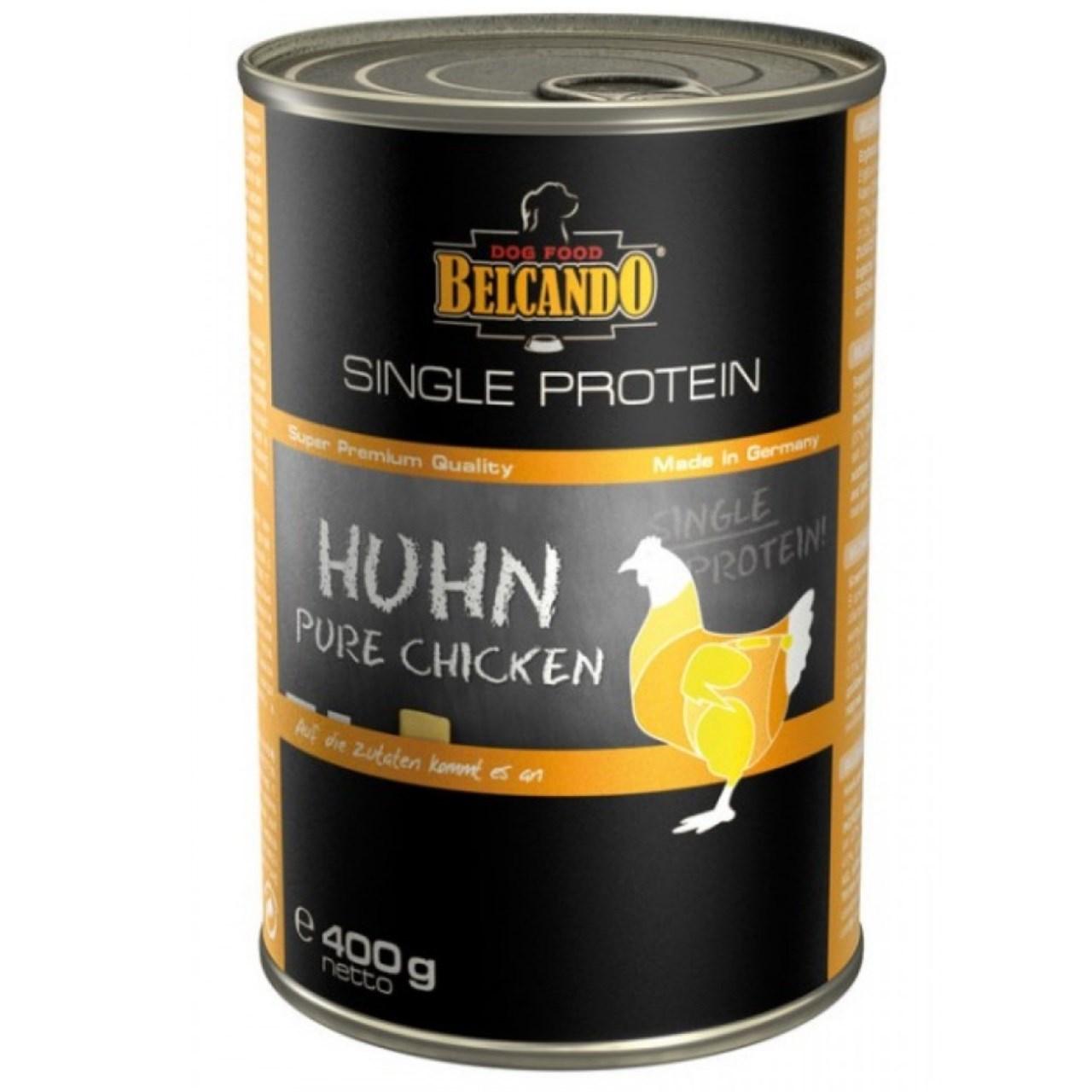 کنسرو سگ بلکاندو مدل SP Chicken وزن 0.4 کیلوگرم
