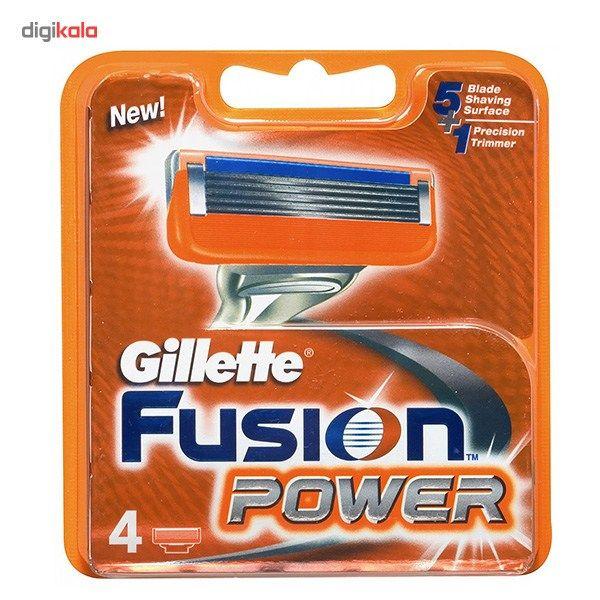 تیغ یدک 4 عددی ژیلت مدل Fusion Power main 1 1