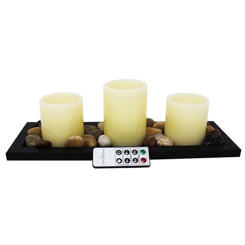 شمع بدون شعله کالیفرنیا کندل مدل CC31TNS - بسته 3 عددی