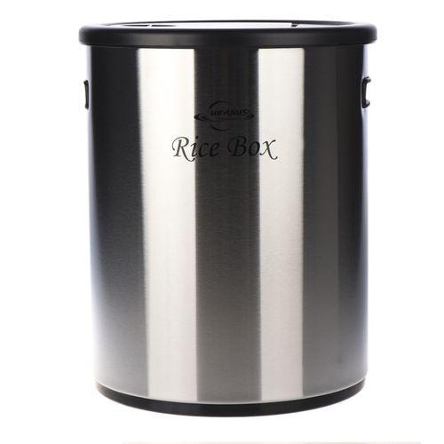 ظرف برنج استیل اورانوس مدل URB-210 طرح خشدار مشکی