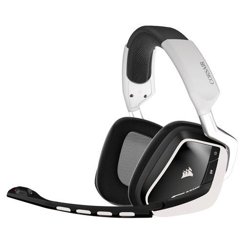 هدست مخصوص بازی کورسیر مدل VOID Wireless Dolby 7.1 RGB White Jacket