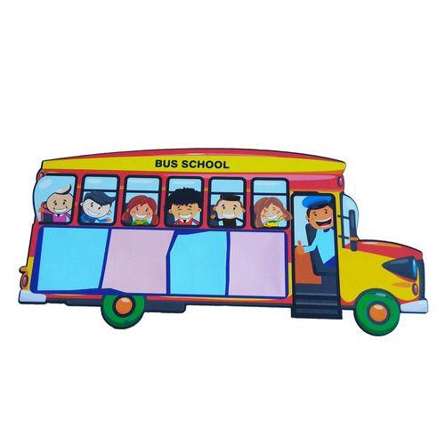 چراغ خواب دیواری جیک جیک مدل اتوبوس مدرسه