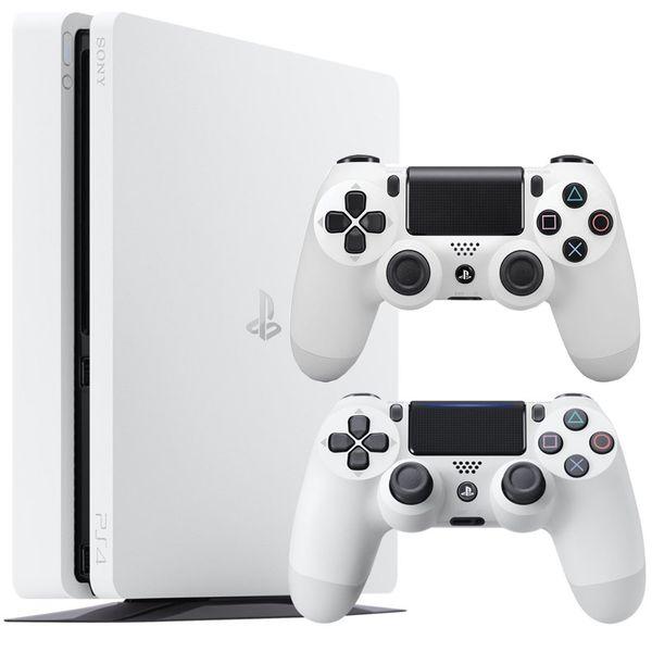 مجموعه کنسول بازی سونی مدل Playstation 4 Slim Glacier White کد CUH-2116A ریجن 2 - ظرفیت 500 گیگابایت