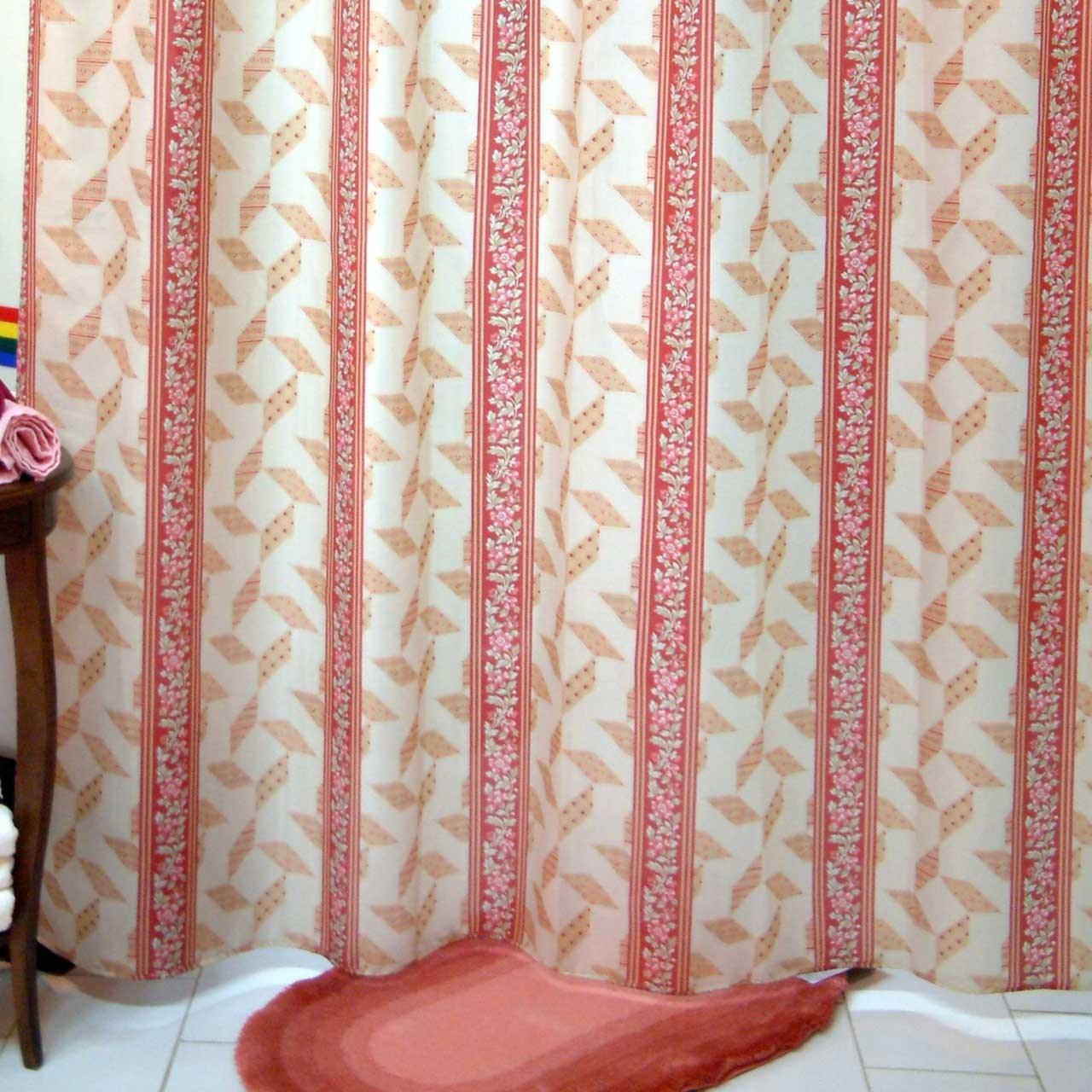 پرده حمام فرش مریم مدل Sina - سایز 180 × 180 سانتی متر