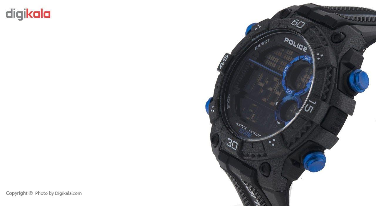 ساعت مچی دیجیتالی مردانه پلیس مدل P14680JPB-02 -  - 3