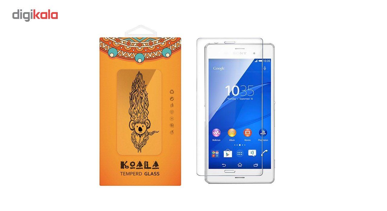 محافظ صفحه نمایش شیشه ای کوالا مدل Tempered مناسب برای گوشی موبایل سونی Xperia Z3 main 1 1