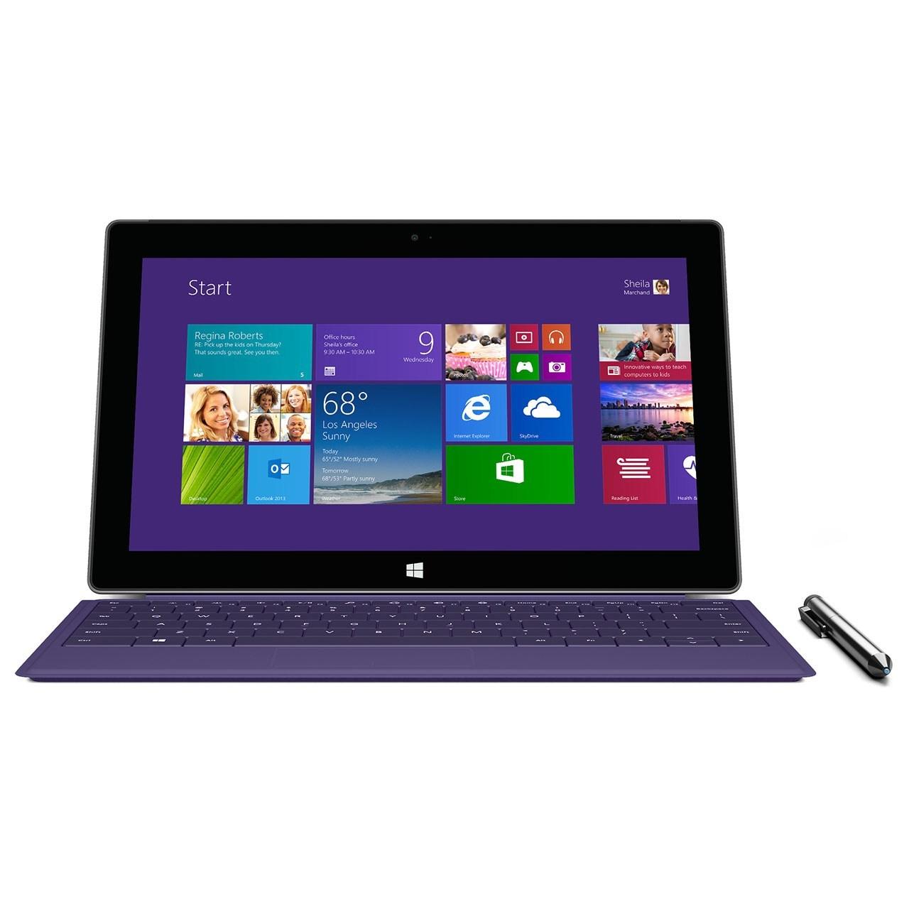 تبلت مایکروسافت مدل Surface Pro 2 به همراه کیبورد ظرفیت 256 گیگابایت