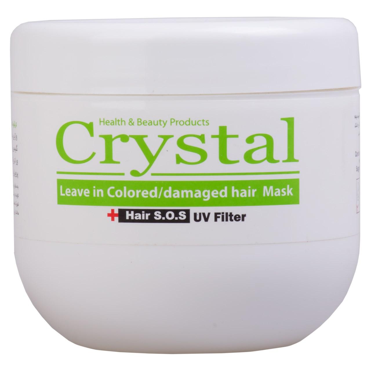 ماسک مو کریستال مدل بدون آبکشی مناسب موهای خشک و آسیب دیده حجم 500 میلی لیتر