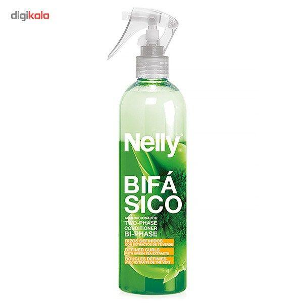 اسپری دو فاز مو فر و مجعد نلی مدل Green Tea  Nelly Two-Phase Difined Curls With Green Tea Hair Spr