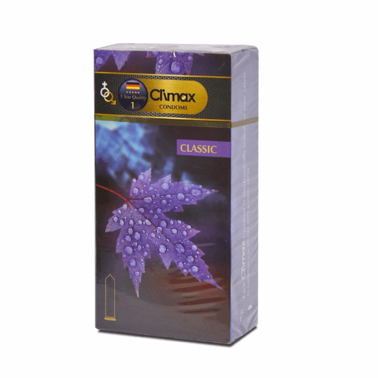 قیمت کاندوم ساده کلایمکس مدل Classic بسته 12 عددی