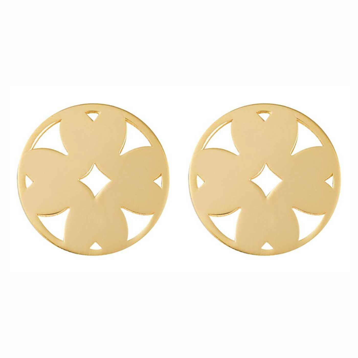 گوشواره طلا 18 عیار زنانه کانیار گالری کد GOA114 -  - 3