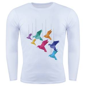 سویشرت مردانه گالری واو طرح پرندگان اوریگامی کد CS10205