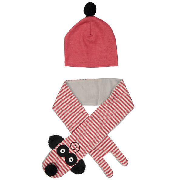 ست کلاه و شال گردن کودک دینو مدل 16S1-041