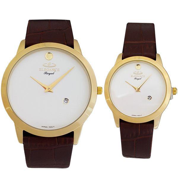 ساعت ست مردانه و زنانه الگانس رویال مدل ER3060-White-Gold