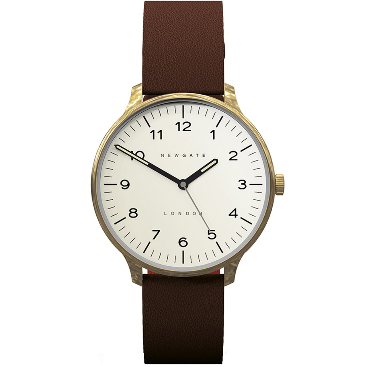 ساعت مچی عقربه ای نیوگیت مدل Blip Brass Case Cream Dial 24