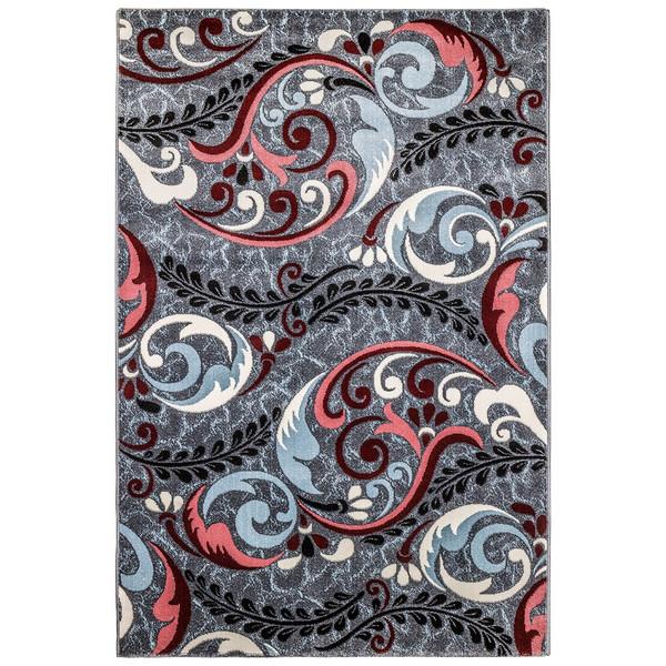 فرش ماشینی سهند کد SL02.US طرح فانتزی زمینه نقره ای