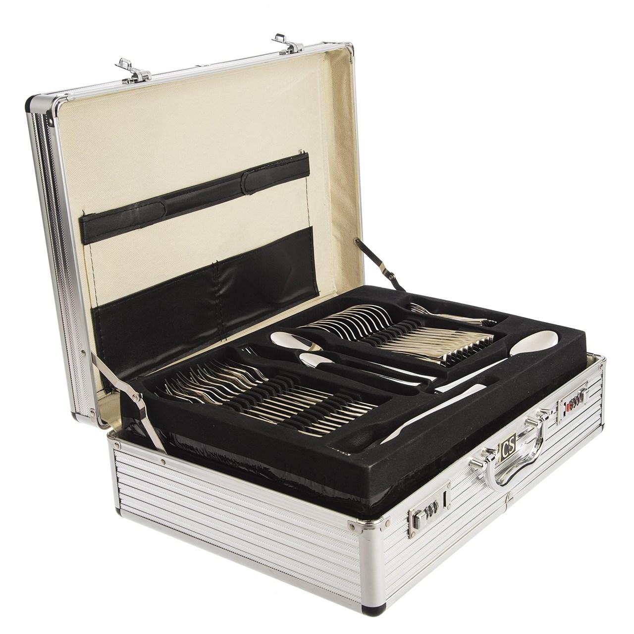 سرویس 139 پارچه قاشق و چنگال کارل اشمیت مدل C Sapor طرح جعبه آلومینیومی