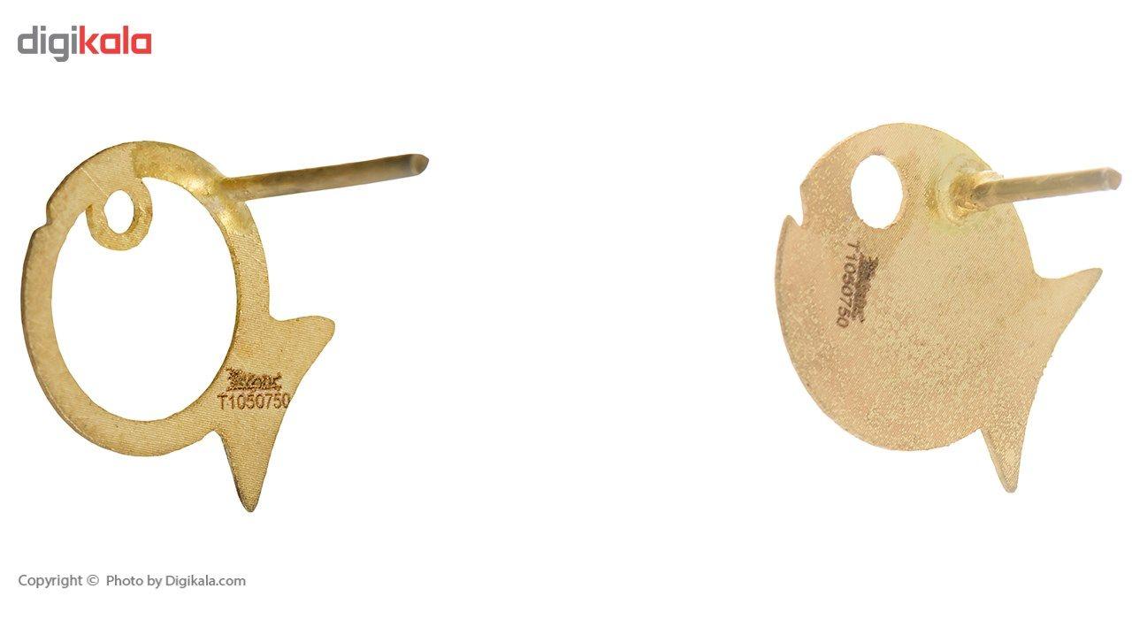 گوشواره طلا 18 عیار ماهک مدل ME0552 -  - 1