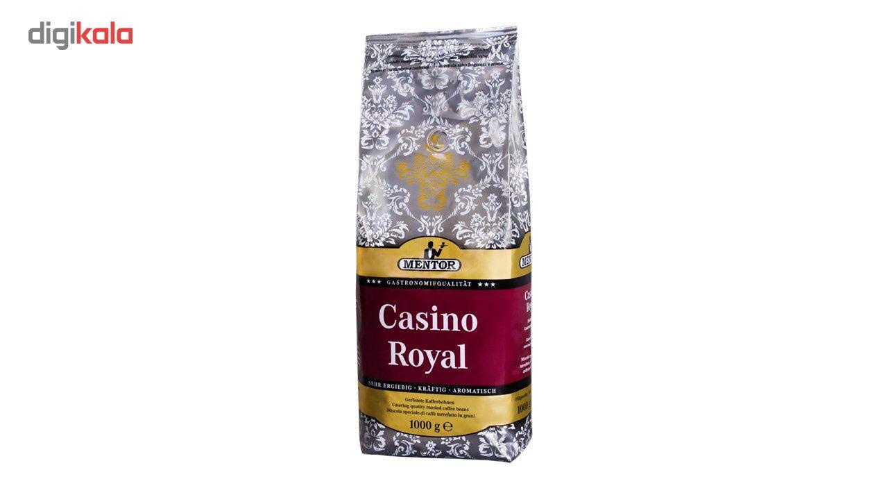 خرید اینترنتی با تخفیف ویژه بسته دانه قهوه منتور مدل Casino Royal مقدار  1000 گرم