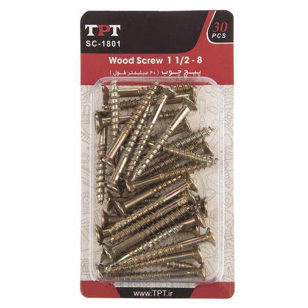 مجموعه 30 عددی پیچ چوب تی پی تی مدل SC-1801