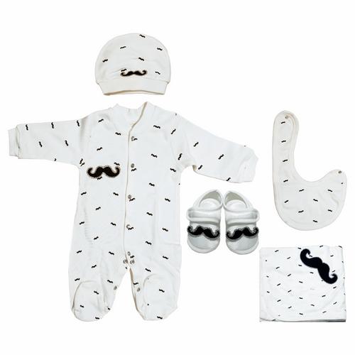 ست لباس نوزادی ادا بیبی مدل 7715moustache