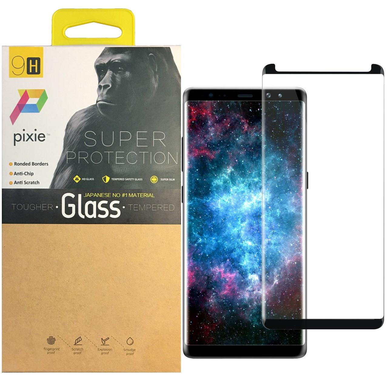 محافظ صفحه نمایش  شیشه ای پیکسی مدل 5D  مناسب برای گوشی سامسونگ Note 8