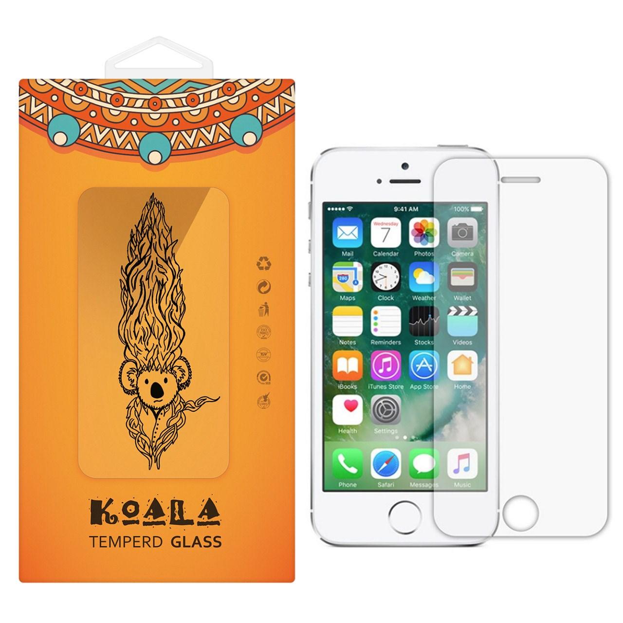 محافظ صفحه نمایش شیشه ای کوالا مدل Tempered مناسب برای گوشی موبایل اپل آیفون 5/5S/SE
