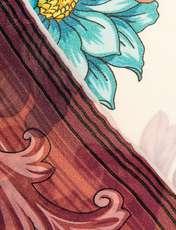 روسری ابریشمی زنانه - رزتی - سفيد و صورتي - 3