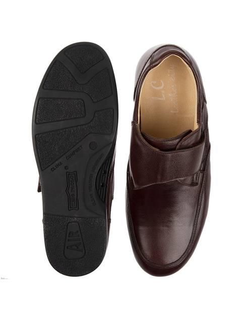 کفش اداری چرم مردانه - شهر چرم - قهوه اي - 2