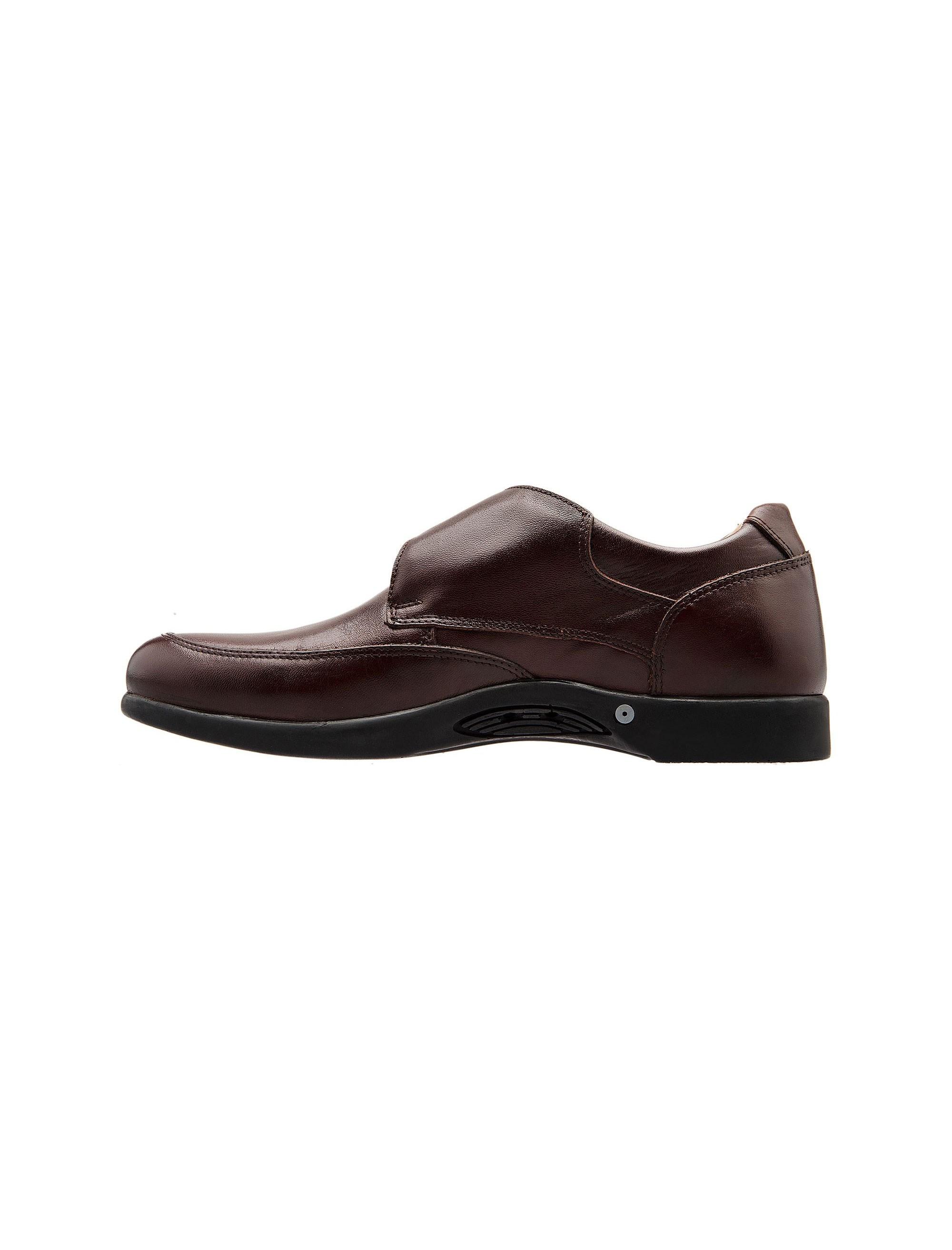 کفش اداری چرم مردانه - شهر چرم - قهوه اي - 3
