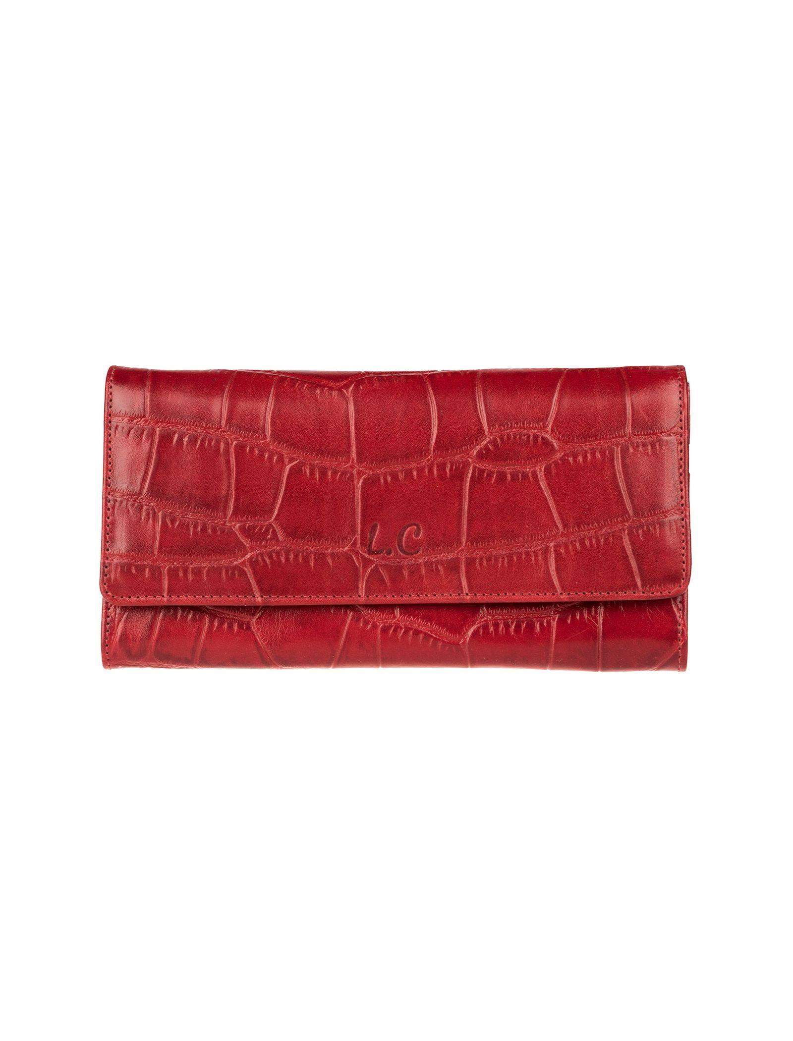 کیف پول چرم زنانه - شهر چرم - قرمز - 1