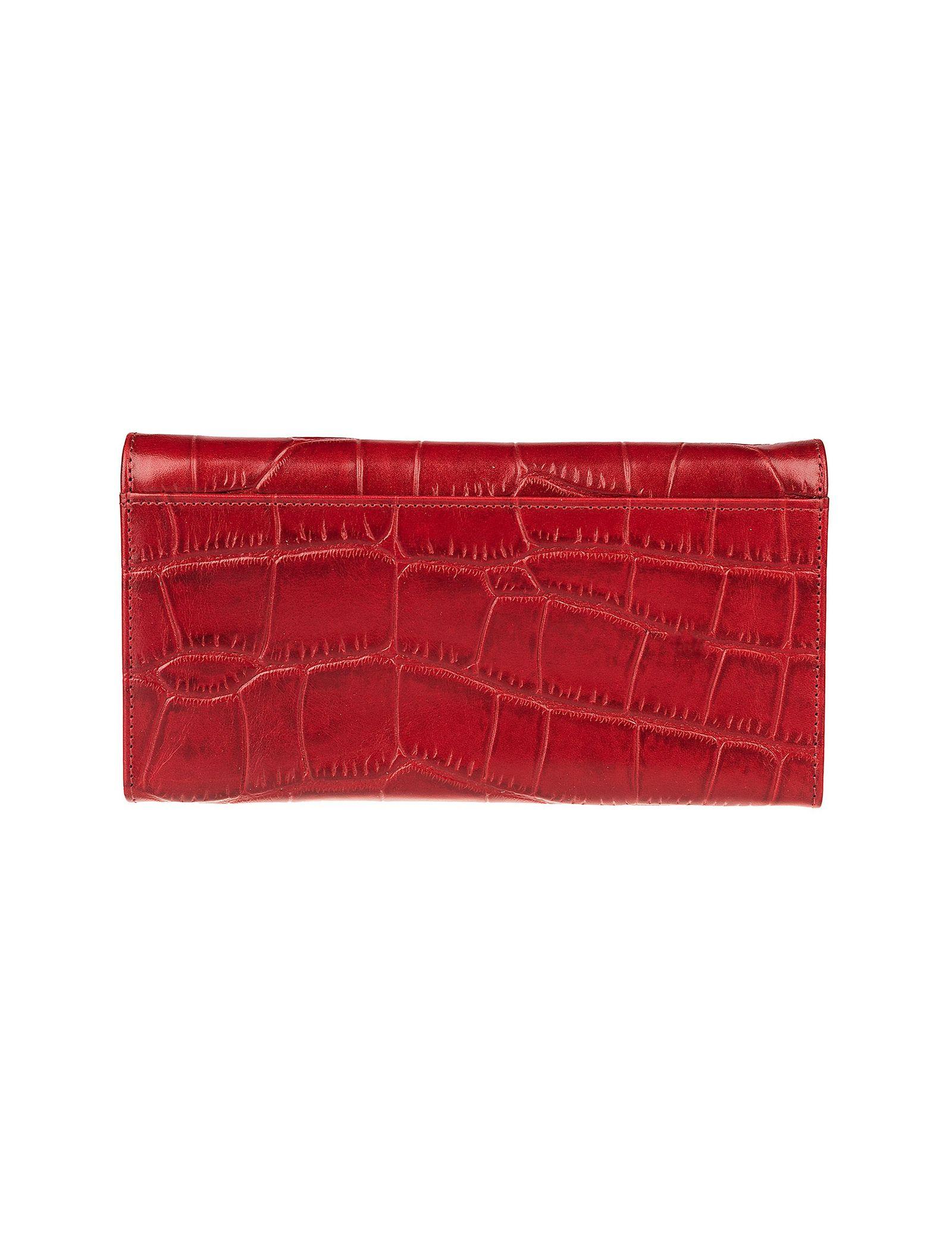 کیف پول چرم زنانه - شهر چرم - قرمز - 2