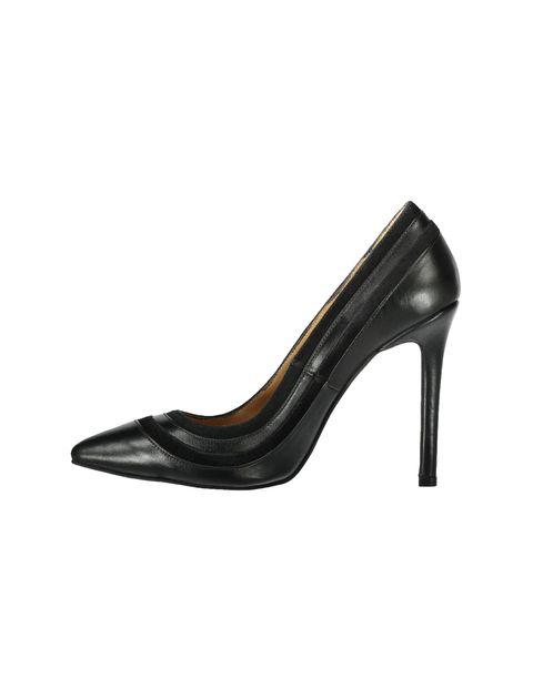 کفش پاشنه بلند چرم زنانه - شهر چرم - قهوه اي تيرهق - 3