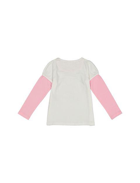 تی شرت و شلوار نخی دخترانه - صورتي - 3