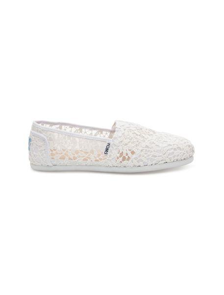 کفش تخت نخی زنانه - سفيد - 1