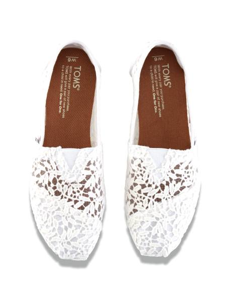 کفش تخت نخی زنانه - سفيد - 2