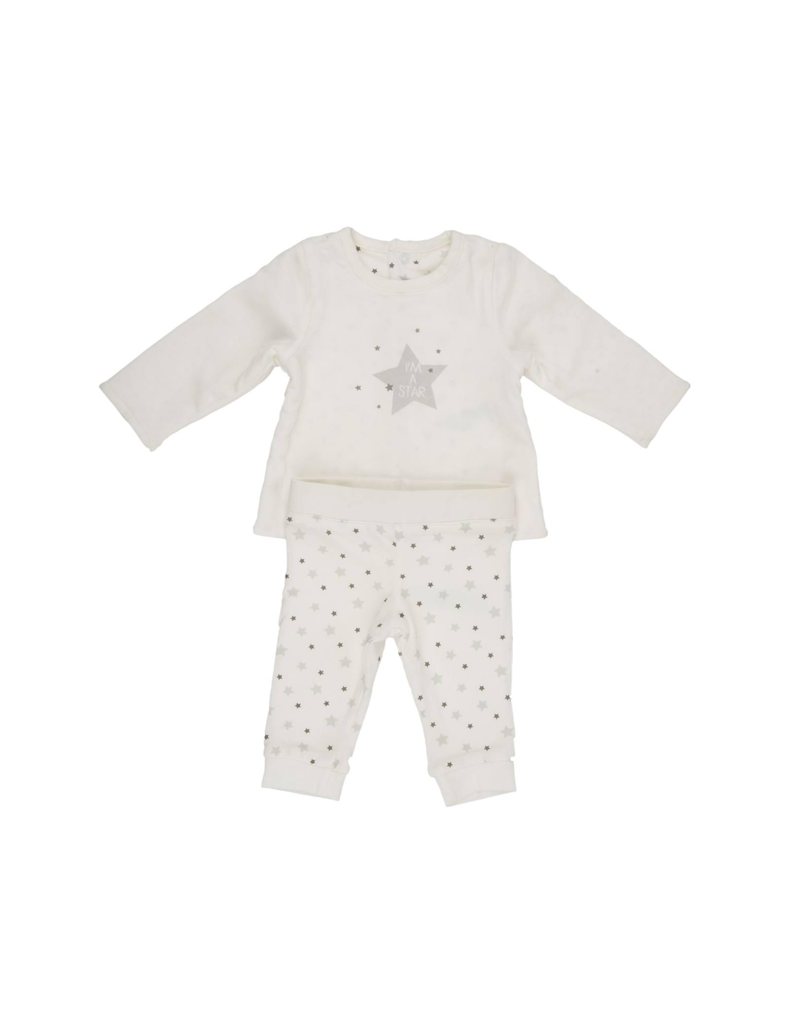 بلوز و شلوار راحتی نوزادی دخترانه - ارکسترا - سفيد - 1