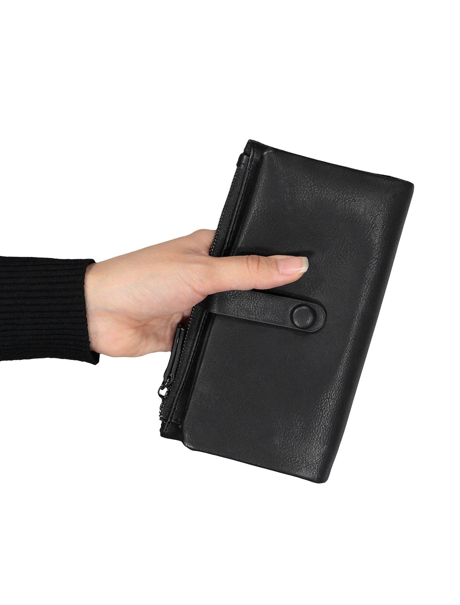 کیف پول دکمه دار زنانه - پونت روما - مشکي - 6