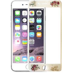 محافظ صفحه نمایش شیشه ای یوسومکfull cover  طرح گل مناسب برای گوشی موبایل آیفون 7 پلاس