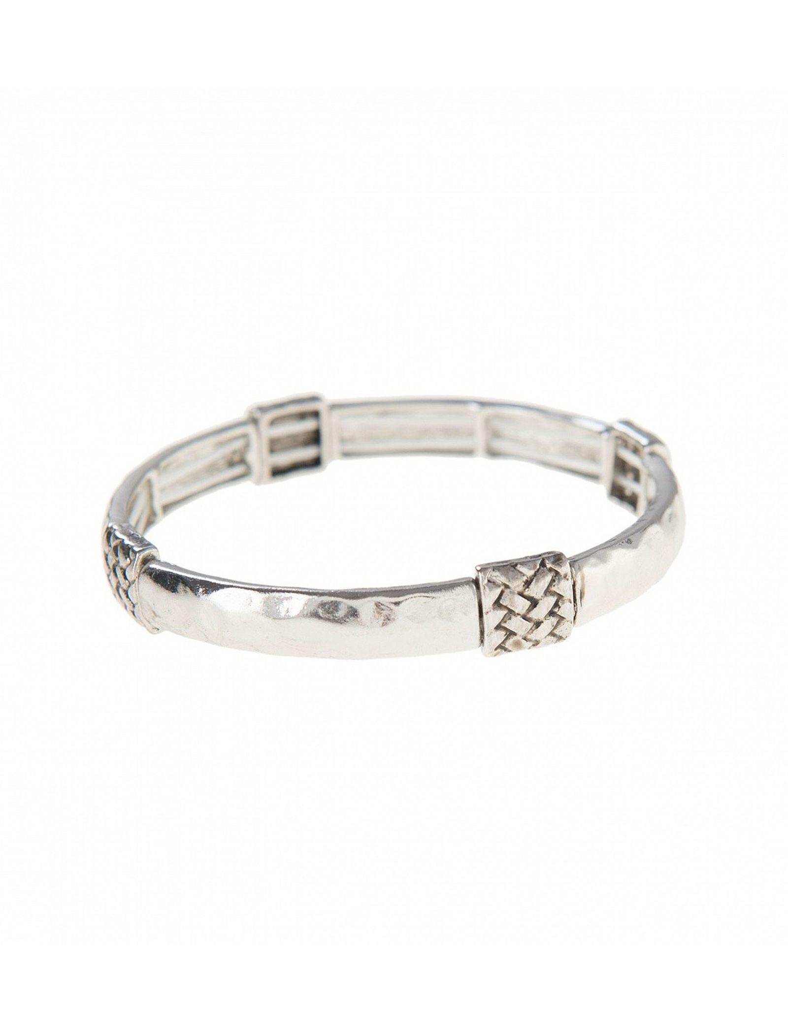 دستبند کشی زنانه - پارفوا تک سایز - نقره اي - 1