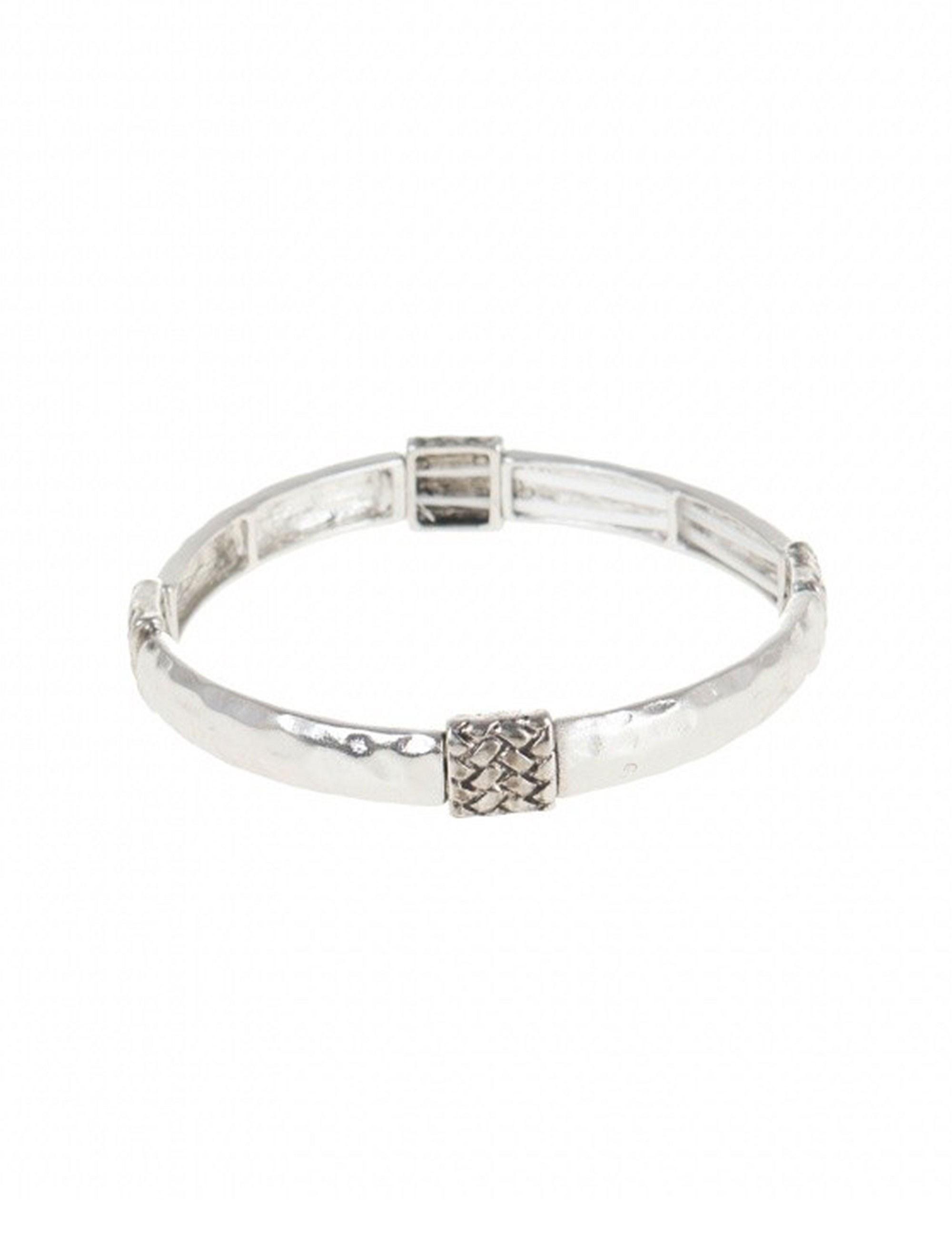 دستبند کشی زنانه - پارفوا تک سایز - نقره اي - 2