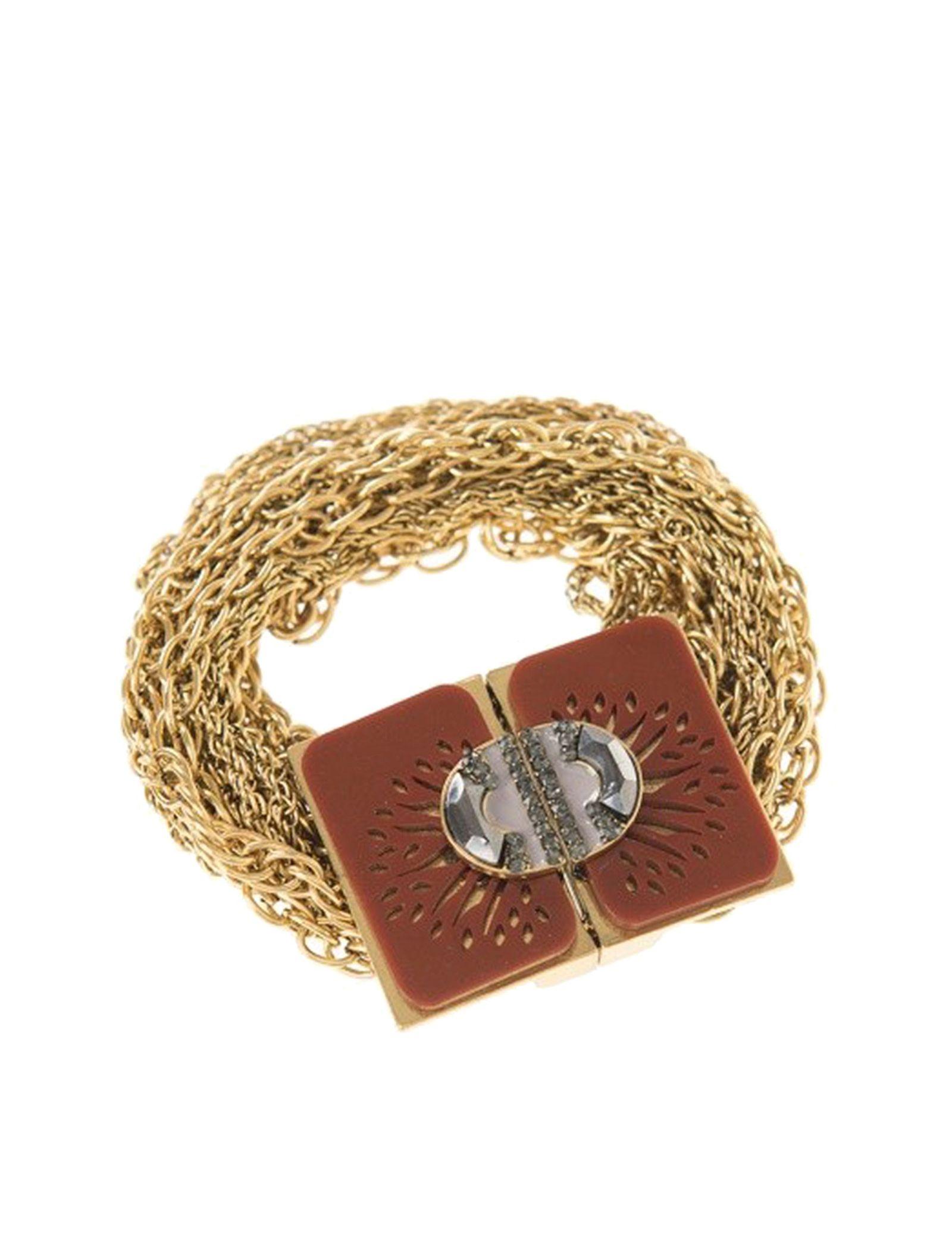 دستبند قفل دار زنانه - پارفوا - قهوه اي - 1