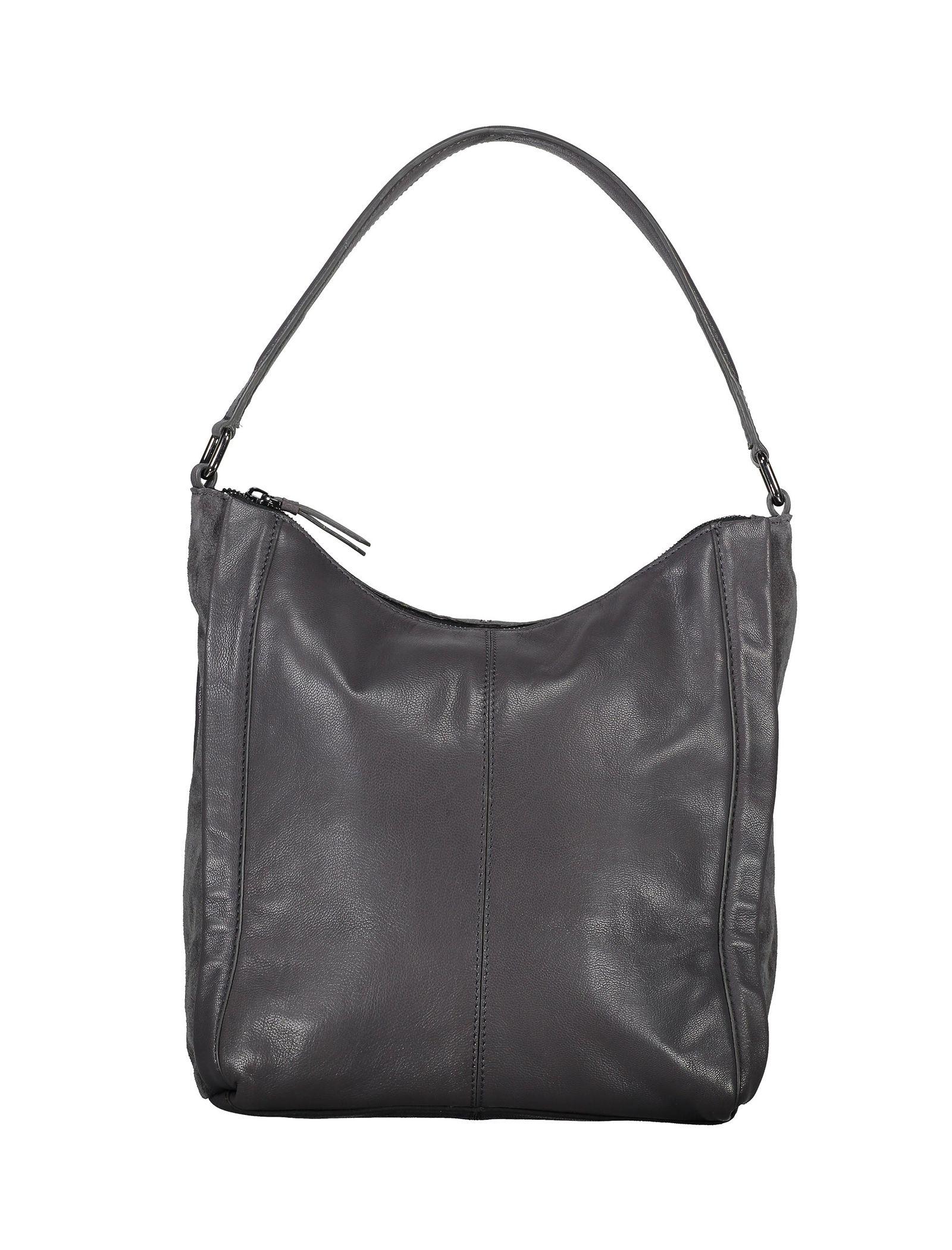 کیف دوشی چرم زنانه - باتا - قهوه اي مايل به طوسي - 1