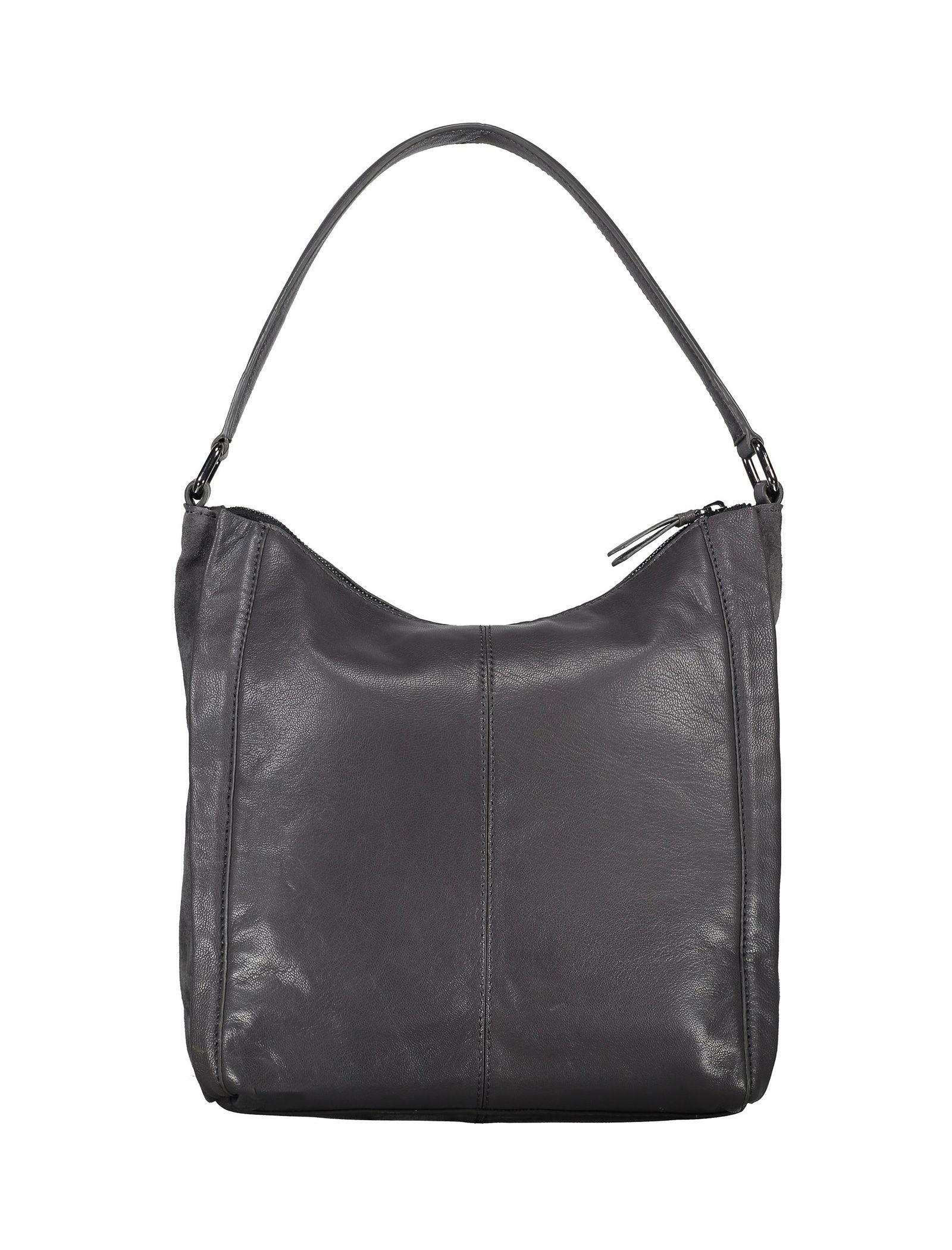 کیف دوشی چرم زنانه - باتا - قهوه اي مايل به طوسي - 2