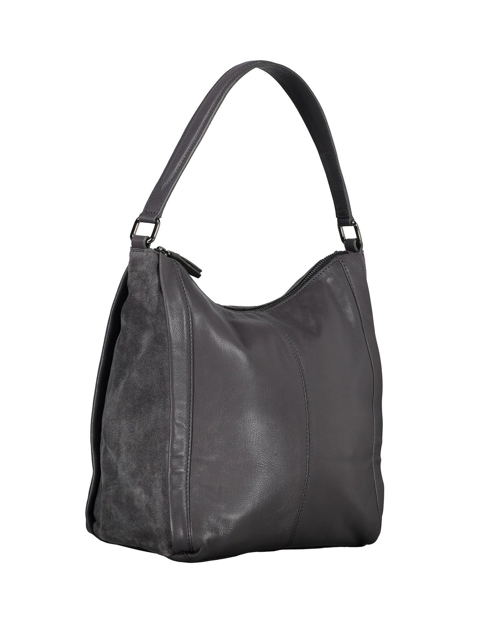 کیف دوشی چرم زنانه - باتا - قهوه اي مايل به طوسي - 3