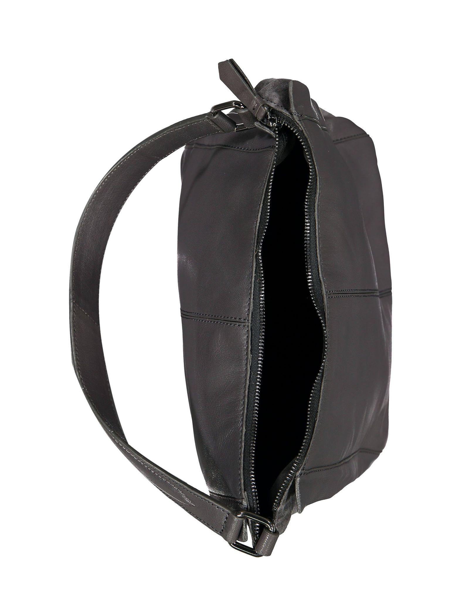 کیف دوشی چرم زنانه - باتا - قهوه اي مايل به طوسي - 5