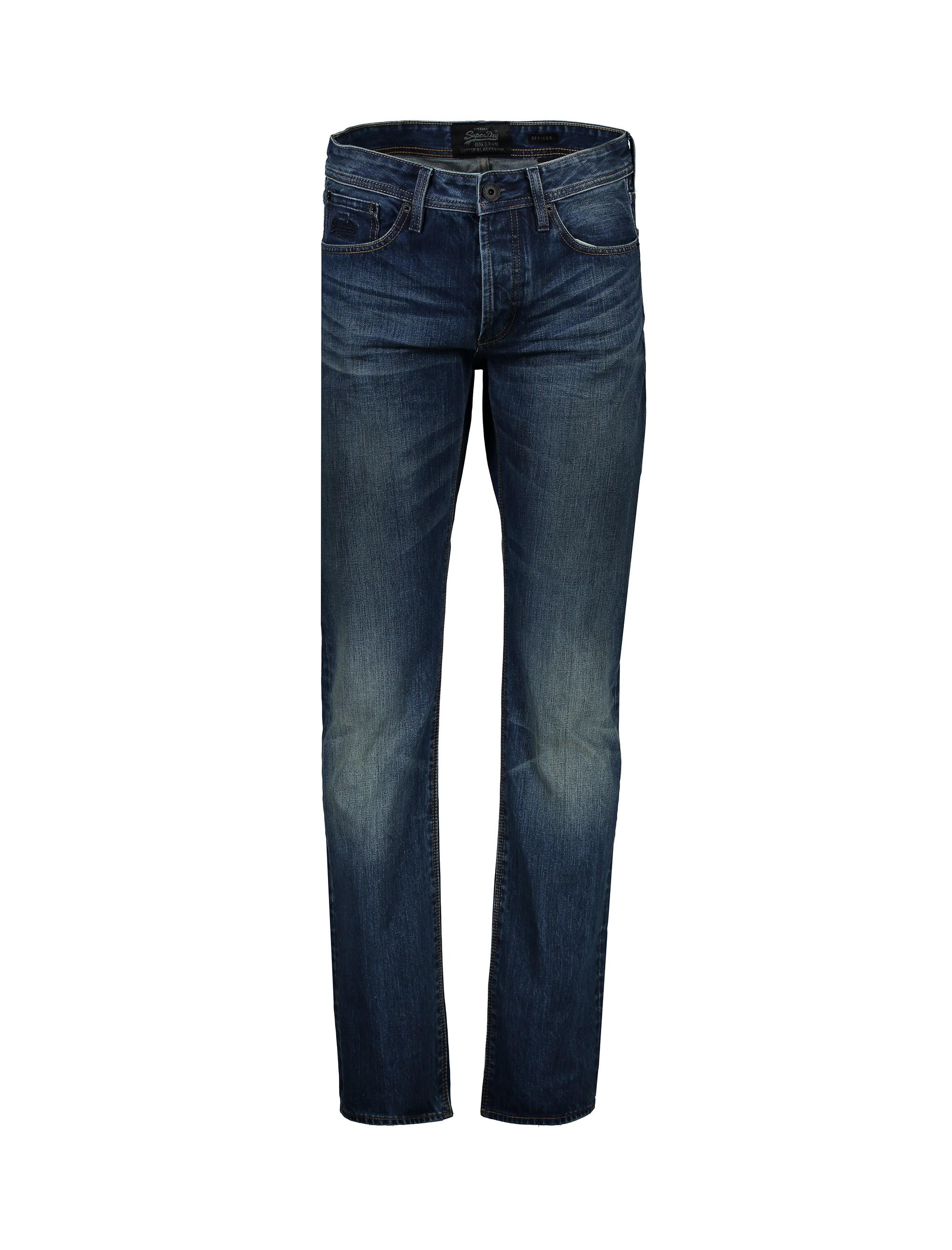 شلوار جین راسته مردانه - سوپردرای - آبي - 1