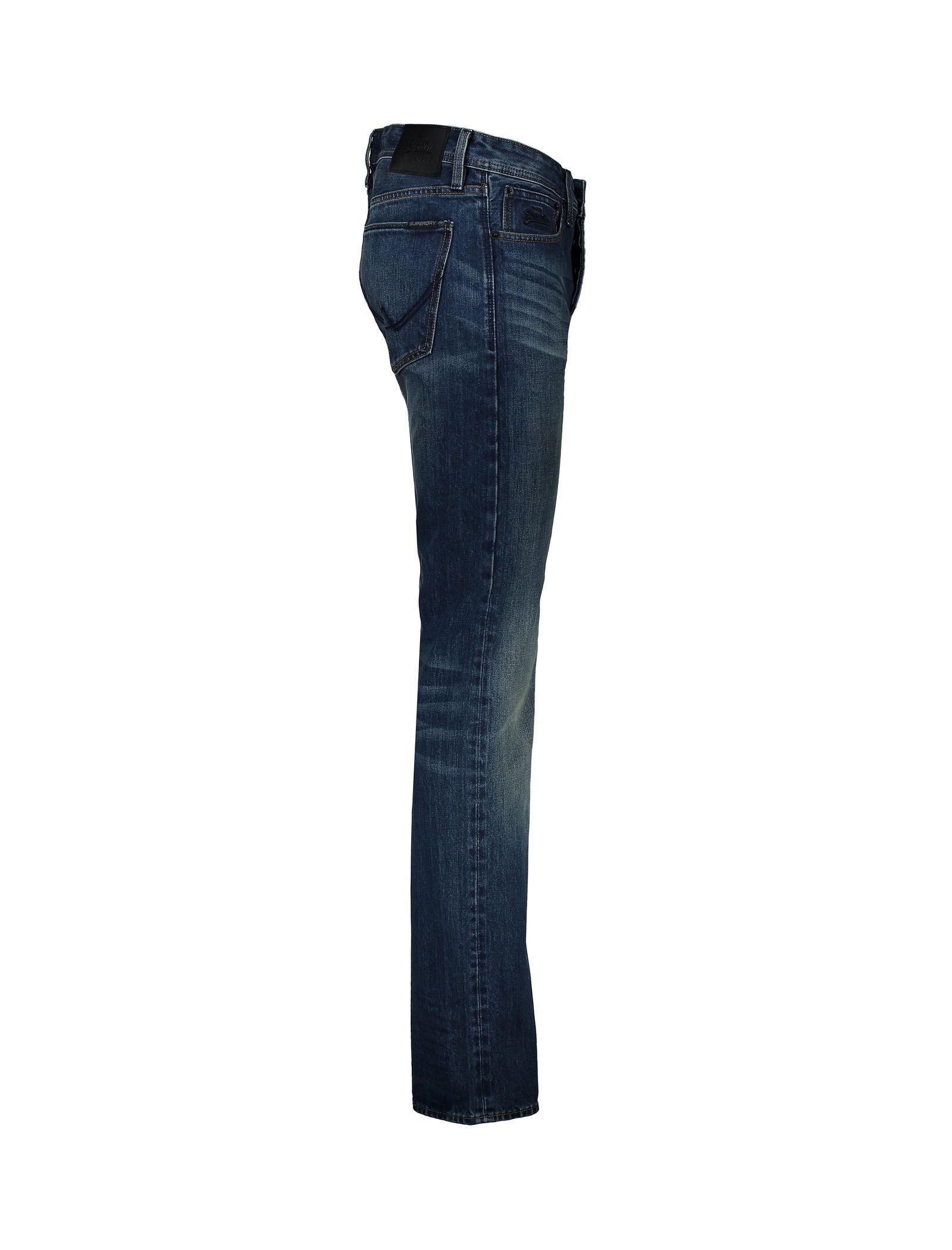 شلوار جین راسته مردانه - سوپردرای - آبي - 3